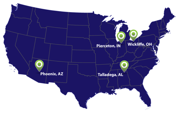 OMCO Holdings Plant locations