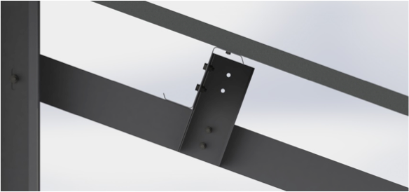 close up of direct bolt solar mounting system
