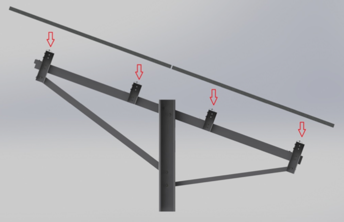 direct bolt solar mounting system