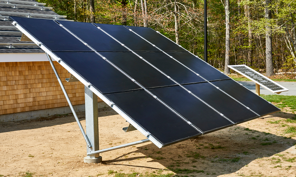 Solar Racking installed at Old Colony Vocational Training: Rochester, MA