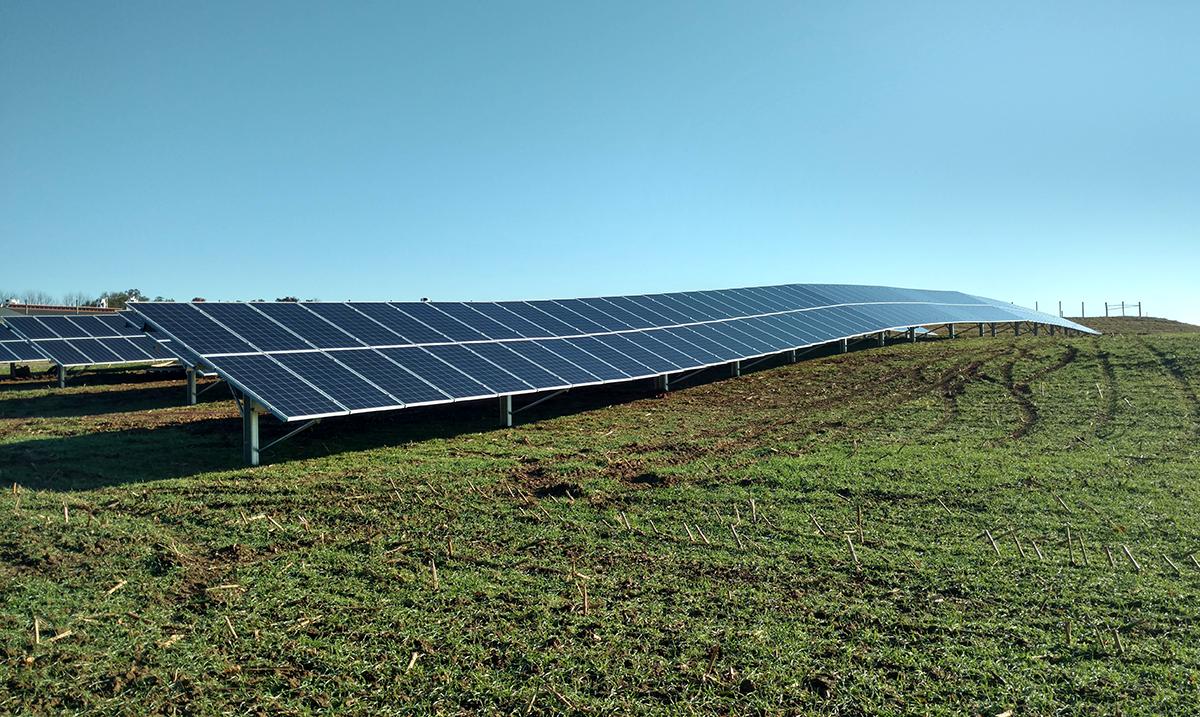 solar racking on uneven terrain
