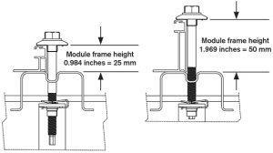 solar tracker frame height