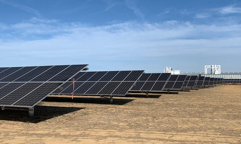 solar racking installation