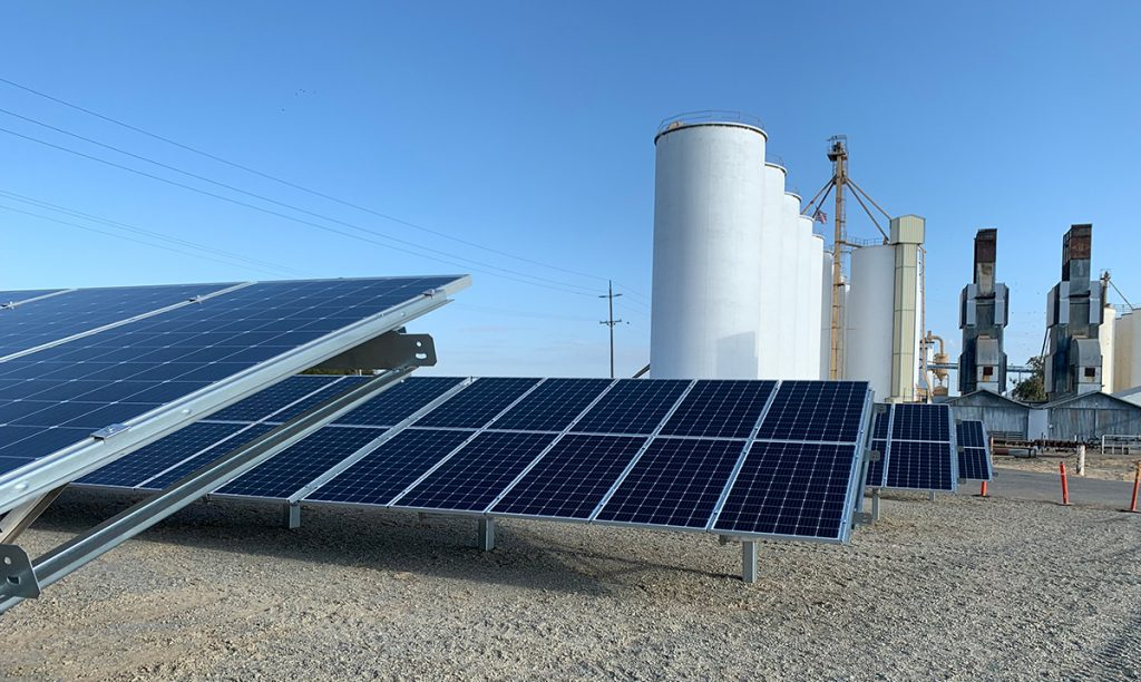 Completed Solar racking install