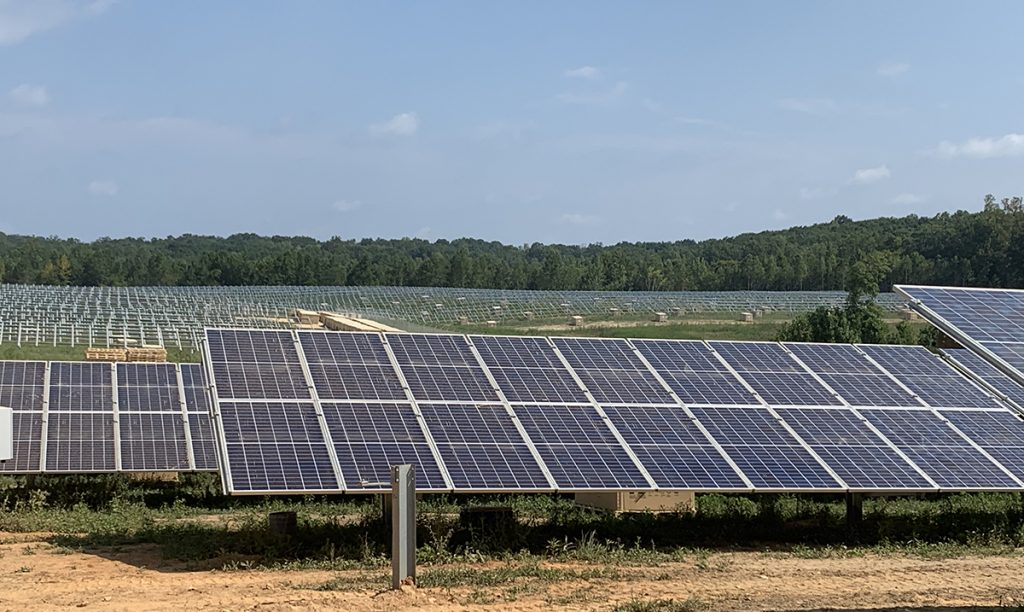 Installed Utility Scale Solar Racking