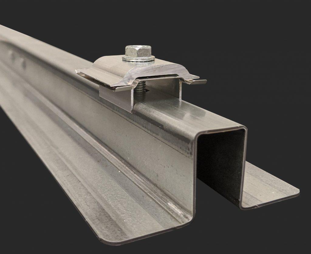 solar module clamp raised