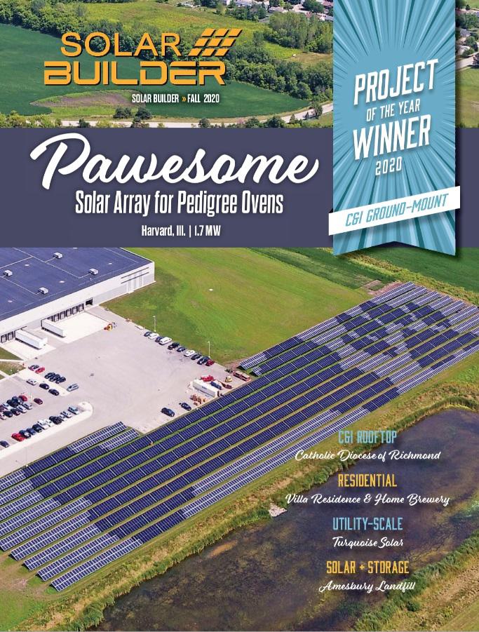 solar builder pedigree award cover