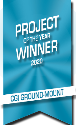 CGI Mount project winner award ribbon